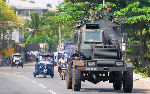 כוח צבאי בבירה קולומבו (צילום: AFP)