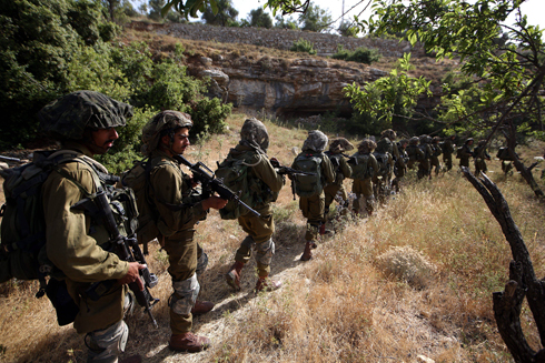 Additional troops were sent to area just north of Hebron. (Photo: EPA)