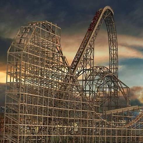 """115 קמ""""ש, נפילה של 85 מעלות (צילום: Six Flags) (צילום: Six Flags)"""