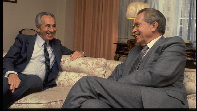 Peres and Nixon. (Photo: Yaakov Saar/GPO) (Photo: Yaakov Saar, GPO)