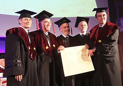 Prof. Reif awarded honorary doctorate of philosophy from University of Haifa (Photo: University of Haifa)