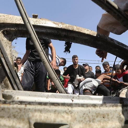 The hit car (Photo: Reuters) (Photo: Reuters)