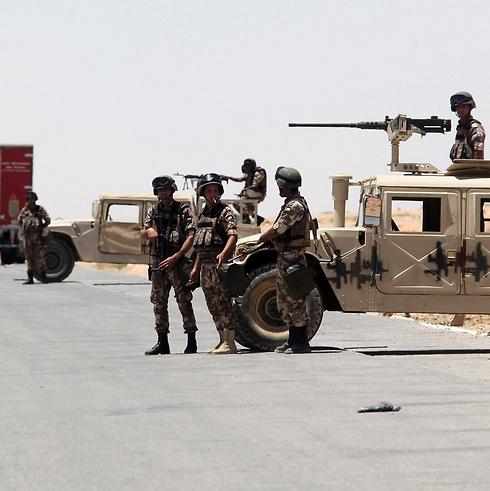 חיילים בגבול ירדן-עיראק (AFP)