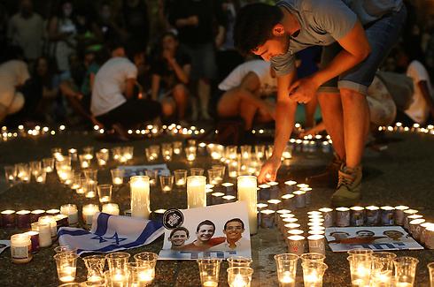 התכנסות ספונטנית בכיכר רבין בתל אביב (צילום: ירון ברנר)