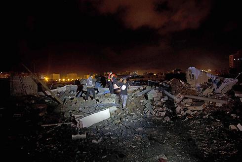 Structure demolished in Gaza Strip (Photo: AFP) (Photo: AFP)
