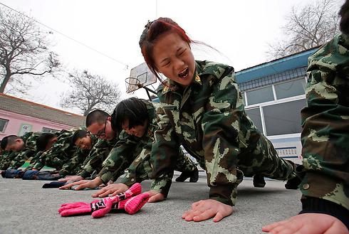 מחנה גמילה מאינטרנט בסין (צילום: רויטרס)