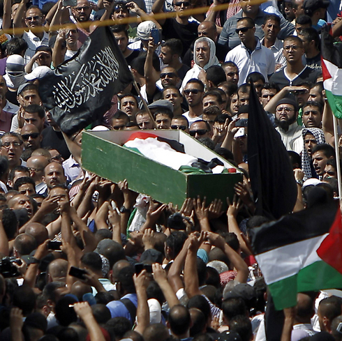 Funeral of Palestinian teen Abu Khdeir. (Photo: AFP) (Photo: AFP)