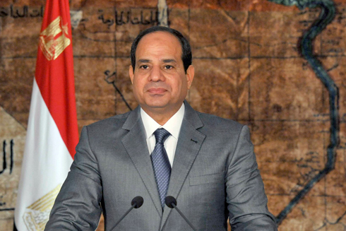 Egyptian President Abdel Fattah al-Sisi. IDF chief said Hamas was in distress due to the destruction of smuggling tunnels and closure of the Rafah Crossing by Egypt (Photo: AP)