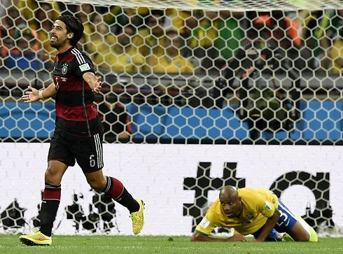 Sami Khedira's fourth goal put Germany up 4 within 30 minutes (Photo: EPA)