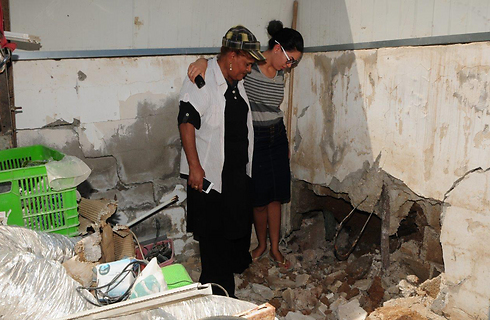 Damage to Netivot pre-school (Photo: Herzl Yossef)