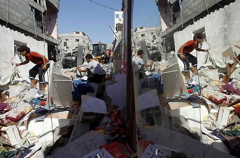 ממדי ההרס ברצועת עזה (צילום: AFP) (צילום: AFP)