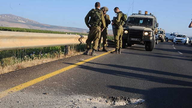 IDF soldiers near Metula (Photo: Avihu Shapira)