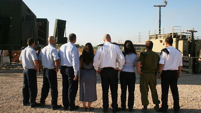 The team behind development of eighth battery (Photo: Israeli Ministry of Defense) (Photo: Israeli Ministry of Defense)