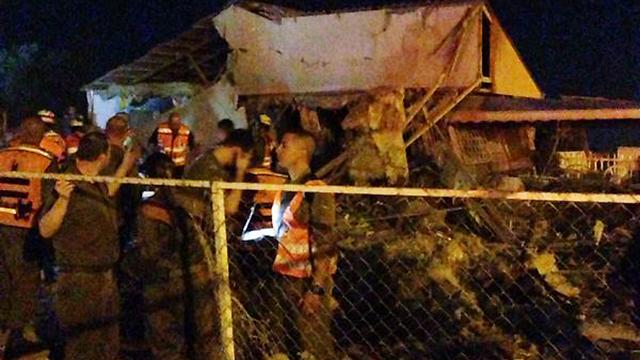 Be'er Sheva home is destroyed in rocket strike