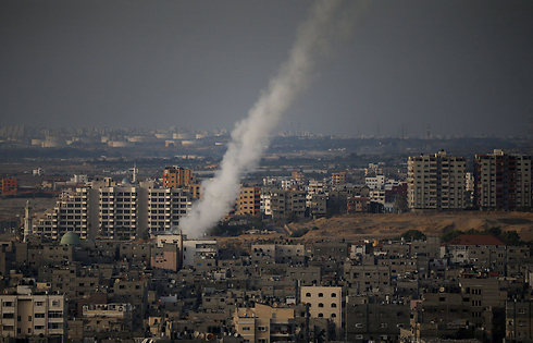 Rocket launch from Gaza (Photo: AFP) (Photo: AFP)