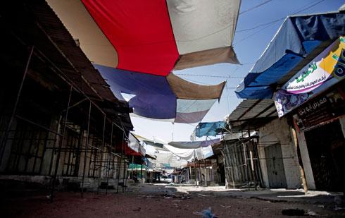 רחובות עזה במהלך סוף השבוע (צילום: AP) (צילום: AP)