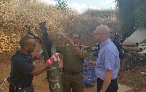 Rocket debris in central Israel (Photo: Petah Tikvah Municipality)