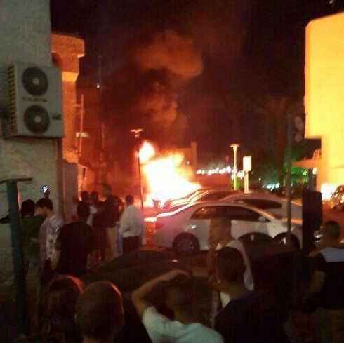 Fire breakes out after rocket hits Eilat