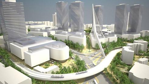 הדמיית תוכנית המתאר בכניסה לירושלים. תתרום לפיתוח אזור הכניסה לעיר (הדמיה: פרחי- צפריר אדריכלים ) (הדמיה: פרחי- צפריר אדריכלים )