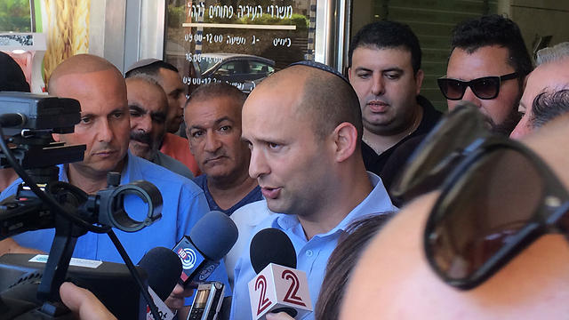 Bennett in Ashkelon during Operation Protective Edge. 'We lack a strategy'