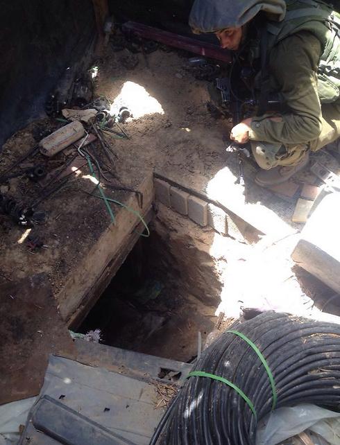 """המנהרות שנחשפו במהלך הלילה והבוקר (צילום: דובר צה""""ל) (צילום: דובר צה"""