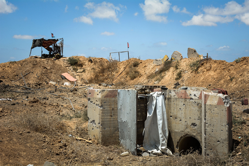 One of the tunnels unearthed during the ground operation (Photo: IDF Spokesperson's Unit)