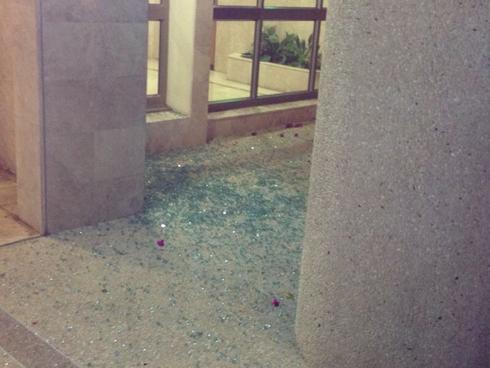 Rocket damage in Ashdod (Photo: Gil Solomon)