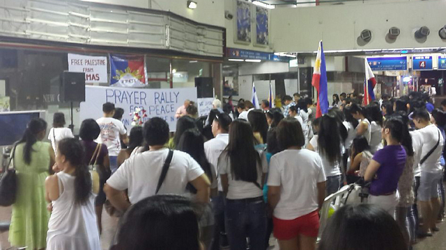 Filipino nationals support Gaza op (Photo: Jeffry Ulian)