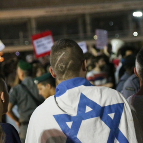 Counter protest in Tel Aviv (Photo: Motti Kimchi)