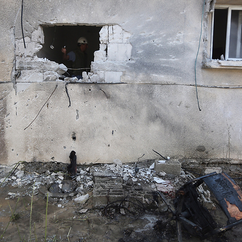 Sderot home hit by a rocket from Gaza during Protective Edge. (Photo: Gil Yohanan)  (Photo: Gil Yohanan)