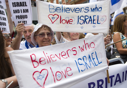 Rally in London in support of Israel (Photo: AFP) (Photo: AFP)