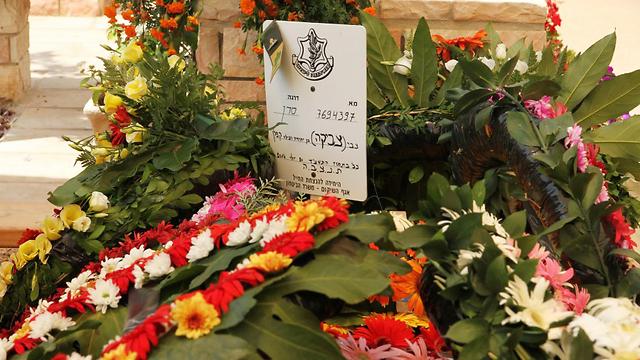"""קברו של סרן קפלן ז""""ל (צילום: זהר שחר) (צילום: זהר שחר)"""