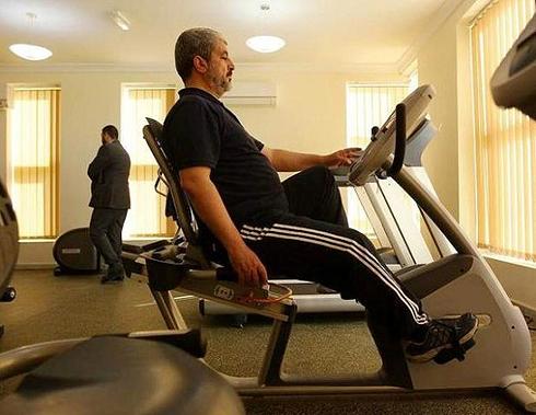 Mashal exercising in Qatar