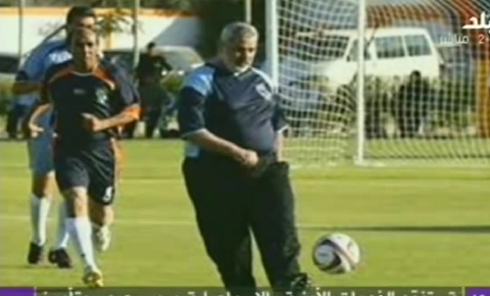 Ismail Haniyeh on the pitch