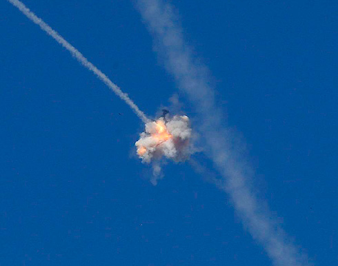 Irone Dome intercepts Hamas rocket (Photo: Reuters) (Photo: Reuters)