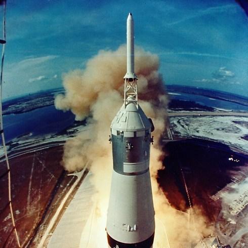 שיגור אפולו 11 (צילום: NASA) (צילום: NASA)