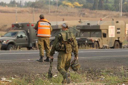 IDF troops at front-line community during Operation Protective Edge (Photo: Ido Erez) (Photo: Ido Erez)