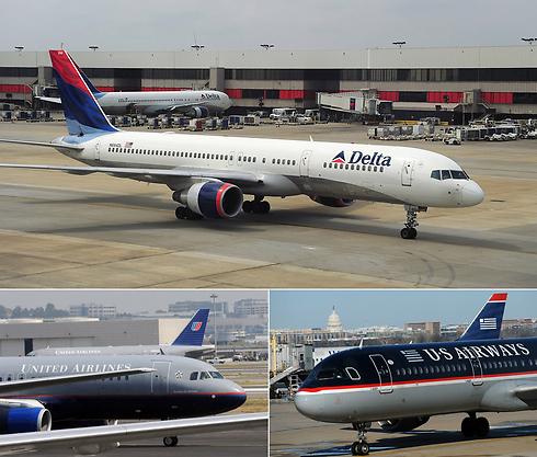 חלק מחברות התעופה שמבטלות טיסות אל ישראל וממנה (צילום: AFP)