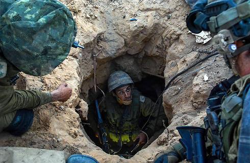 """חטיבת גבעתי מנטרלת מנהרות ברצועה (צילום: דובר צה""""ל) (צילום: דובר צה"""