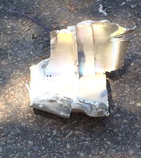 Rocket shrapnel found in Tel Aviv