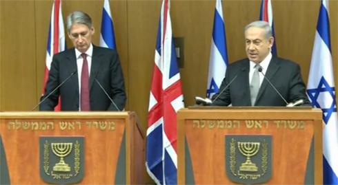 נתניהו בפגישתו הבוקר עם שר החוץ הבריטי (צילום: עפר מאיר) (צילום: עפר מאיר)