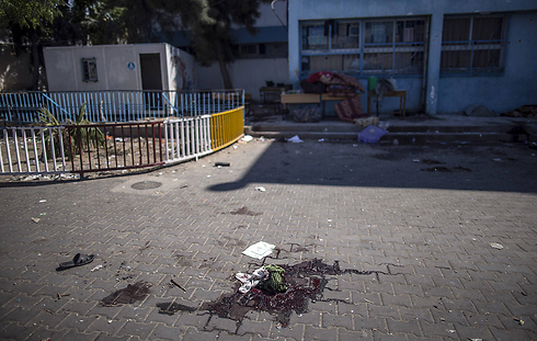 Aftermath of the incident at the UNWRA school. (Archive Photo: AFP)