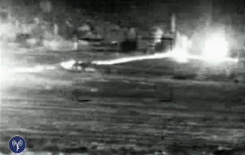 """רגע פיצוץ מנהרת טרור - התוואי נראה בבירור (צילום: דובר צה""""ל) (צילום: דובר צה"""