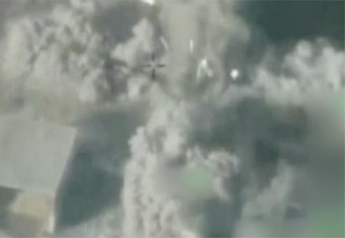 """פיצוץ המנהרה (צילום: דובר צה""""ל) (צילום: דובר צה"""