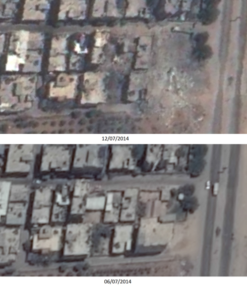 Before and after: Nuseirat refugee camp in Gaza (Photo: Ronen Solomon)