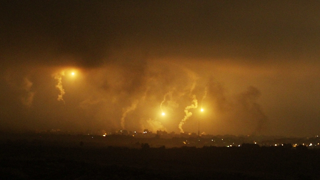 Overnight attacks on Gaza (Photo: Ido Erez)