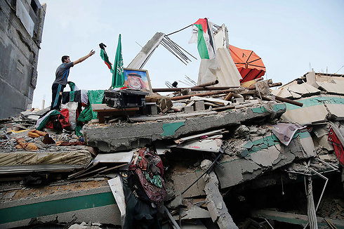 Destroyed home of Hamas leader Ismail Haniyeh