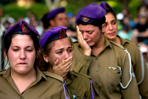 הלווייתו של סמל שגיא ארז מקריית אתא (צילום: AP) (צילום: AP)