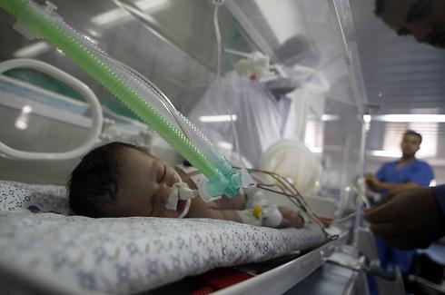 אושפזה במצב קשה בבית החולים בחאן יונס. שאיימה לפני מותה (צילום: AFP) (צילום: AFP)