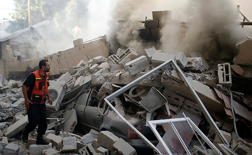 A house destroyed from IAF airstrikes (Photo: Reuters)